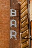 Le bar signent dedans Rome, Italie Images stock