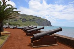 Le Barachois en St Denis, Reunion Island, Francia fotografía de archivo libre de regalías