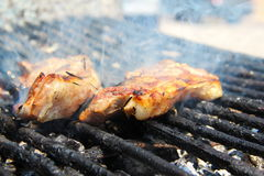 Le barbecue du poisson Images libres de droits
