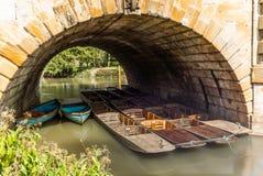 Le barche di legno classiche si sono messe in bacino sul fiume a Oxford - 7 Fotografia Stock Libera da Diritti