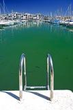 Le barche e gli yacht hanno attraccato nella porta di Duquesa in Spagna sulla Costa de Fotografie Stock Libere da Diritti