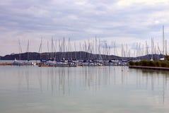 Le barche hanno preparato per crociera Fotografie Stock