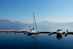 Le barche si sono messe in bacino Immagini Stock Libere da Diritti