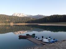 Le barche sul lago Fotografia Stock Libera da Diritti
