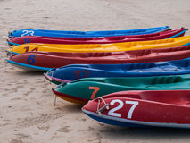 Le barche sulla spiaggia Immagini Stock Libere da Diritti