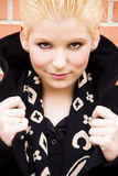 le barn för blond kamera Fotografering för Bildbyråer