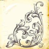 Le baroque de vecteur des éléments de vintage pour la conception illustration stock