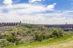 Le barrage d'Itaipu, Foz font Iguacu, Brésil Photo stock