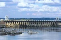 Le barrage de la station hydro-électrique de Dnieper photos stock