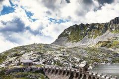 Le barrage du lac du vaca, Italie Photos libres de droits