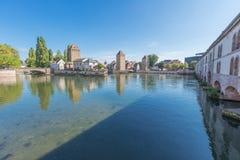Le barrage et le Petite France de Vauban Photo libre de droits