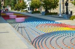Le barre dei colori differenti a Montreal del centro in Quebec Fotografia Stock