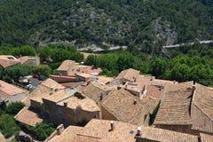 Le Barroux, Provence, Frankrike Arkivbilder