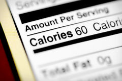 Le bas en calories photographie stock libre de droits