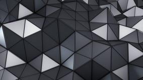 Le bas poly abrégé sur 3D construction de technologie rendent Photos libres de droits
