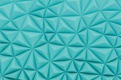 Le bas poly fond de sarcelle d'hiver abstraite avec l'espace 3d de copie rendent Photographie stock libre de droits