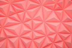 Le bas poly fond rose abstrait avec l'espace 3d de copie rendent Photos stock