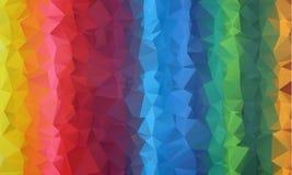 Le bas poly origami triangulaire fripé géométrique multicolore dénomme le fond de graphique d'illustration de gradient illustration de vecteur