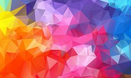 Le bas poly origami triangulaire fripé géométrique multicolore dénomme le fond de graphique d'illustration de gradient illustration libre de droits