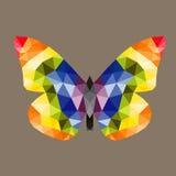Le bas poly papillon, conception de vecteur Images libres de droits