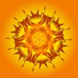 Le bas poly soleil abstrait Photographie stock libre de droits