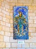 Le bas-relief de Vierge Marie photo libre de droits