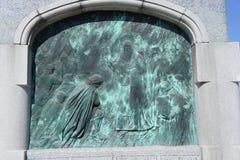 Le bas-relief du monument à Yuri Dolgoruky dans Kolomna Photos stock