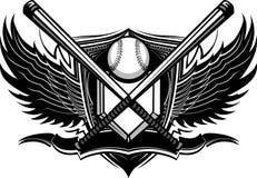 Le base-ball de base-ball manie la batte le dessin fleuri Image libre de droits