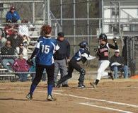 Le base-ball de filles photos libres de droits