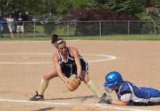 Le base-ball de filles Photo libre de droits