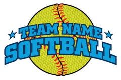 Le base-ball texturisé Team Design illustration de vecteur