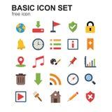 Le BASIC a coloré des icônes réglées illustration de vecteur
