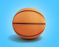 Le basket-ball 3d rendent sur un fond de gradient illustration stock