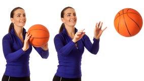 Le basket-ball des femmes Images stock