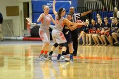 Le basket-ball des femmes de NCAA Photographie stock libre de droits