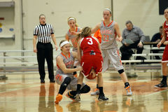 Le basket-ball des femmes de NCAA Images libres de droits