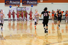 Le basket-ball des femmes de NCAA Photos stock
