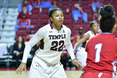 2015 le basket-ball des femmes de NCAA - temple contre l'état du Delaware Photo libre de droits