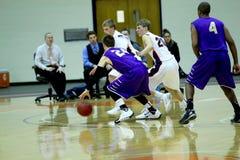 Le basket-ball des hommes de la division III de NCAA d'université Image libre de droits