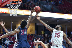 2015 le basket-ball des hommes de NCAA - FDU au temple Photos libres de droits
