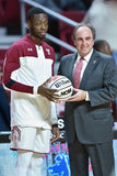 2015 le basket-ball des hommes de NCAA - FDU au temple Photo libre de droits