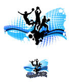 Le basket-ball silhouette l'illustration abstraite Photo stock