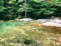 Le bassin dans le parc d'état d'entaille de Franconia images libres de droits
