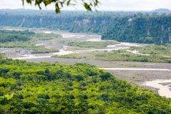 Le bassin fluvial d'Upano Image stock