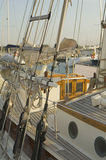 le bateau détaille la voile Photographie stock libre de droits