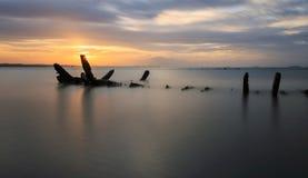 Le bateau détruit, Thaïlande Photographie stock