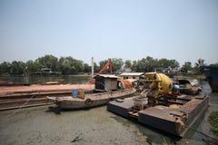 Le bateau de construction Photo stock