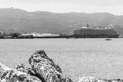 Le bateau de croisière de Mein Schiff 6 de TUI Cruises s'est accouplé à Montego Bay, Jamaïque images stock