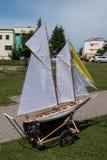 Le bateau de modèle d'échelle de RC aux championnats du monde classent NS NAVIGA Photos stock