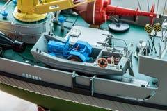 Le bateau de modèle d'échelle de RC aux championnats du monde classent NS NAVIGA Images libres de droits